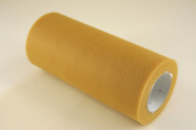 15cm Gold Craft Tulle Roll 25 Yards