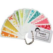 Swatch Buddies Fabric Fan 12/Pkg-White