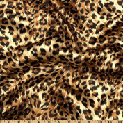 Charmeuse Satin Big Cheetah Tan/Brown/Black Fabric