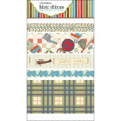 Game On Fabric Ribbon-5 Styles/46cm Each