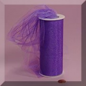 Purple 15cm X 25 Yds Glimmer/Shimmer Tulle Roll