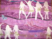 110cm Wide Disney CHEETAH GIRLS Stripe Cotton Fabric BY THE HALF YARD