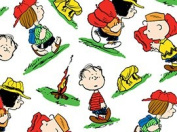 110cm Wide Camp PEANUTS Toss White Cotton Fabric BY THE HALF YARD
