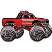 Monster Truck 4 X 4 Pickup Auto Racing Ute Applique Iron-on Patch New S-675 Handmade Design From Thailand