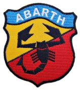 FIAT ABARTH 500 Motor Auto Logo Motor t-Shirt Blue Embroidered Embroidered Iron or Sew on Patch by Twinkle Lable...