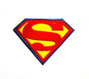 Superman Superhero Logo Chest Embroidered Iron on Patch