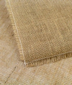 Natural Square Fringed Jute Tablecloth - 140cm x 140cm