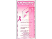 CM Designs Ruler 15cm Add-A-Quarter Pink