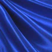 Royal Blue Satin Fabric 150cm Inch Wide - By the Yard - For Weddings, Decor, Gowns, Sheets, Costumes, Dresses, Etc