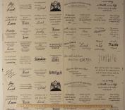 80cm X 110cm Cotton Panel - Bible Scripture Scriptural Verses Wise Sayings Quilting Blocks Cotton Fabric Panel