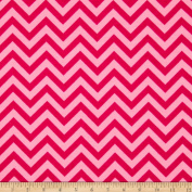 Flannel Chevron Love Pink Fabric