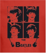 The Beatles Appliqué Quilting Square Red