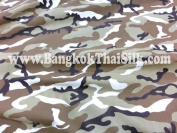 Army Camouflage Tan Khaki Brown Cotton Fabric 110cm W By the Yard