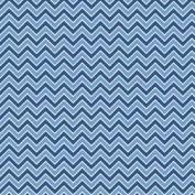 Medium Blue Chevron Alpine Basics Flannel Fabric by the yard F610-7