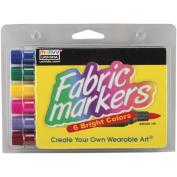 Fabric Marker Brush Tip 6/Pkg-Bright