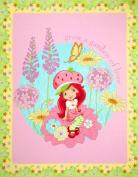 Strawberry Shortcake New Petal Panel Pink Fabric