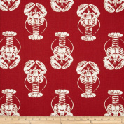 Premier Prints Lobster Timberwolf Red/Macon Fabric
