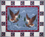 Soaring with the Eagle Wall Hanging by General Fabrics - 100% Cotton, Panel