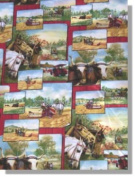 Licenced Farmall Tractor Prints - Days Gone By Fabrics By Cranston 100% Cotton 110cm Wide By the Yard
