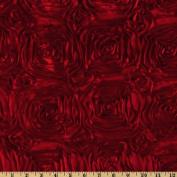 Splenda Satin Ribbon Rosette Red Home Decor Fabric