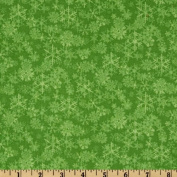 Chill Out Snowflake Blender Green Fabric By The YD