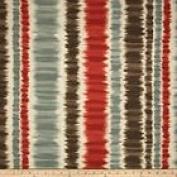 Braemore Merson Ikat Stripe Pond Fabric