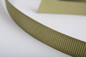 1cm Wide Old Willow Green Grosgrain Ribbons - 50 Yards Total