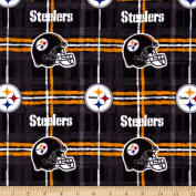 NFL Flannel Pittsburgh Steelers Yellow/Black Fabric