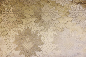 Ivory Jacquard Brocade Fabric with a Nice Flower Design