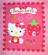 110cm Wide HELLO KITTY Cupcake Cotton Fabric By The Panel