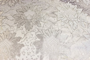 White Jacquard Brocade Fabric with a Nice Flower Design