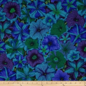 Kaffe Fassett Collective 2012 Petunias Blue Fabric