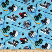 Sports Collection Hockey Equipment Blue Fabric