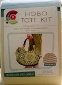Hobo Tote Kit Just Cut And Sew/Reversible Set of (2) Fabric Prints