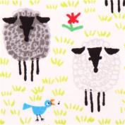 white Cloud 9 sheep animal organic fabric Happy Drawing Too