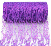 Kel-Toy Sparkle Lace Fabric, 15cm by 10-Yard, Purple
