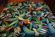 Blue Gold Macaw Poly Duck Outdoor Fabric Richloom