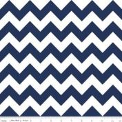 Chevron Stripe Navy Blue Flannel Fabric SKU F320-21