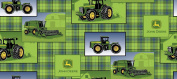 John Deere Plaid Patch Allover Fabric by The Yard, 2.5cm Wide, Green
