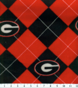 NCAA Fleece Fabric-University of Georgia Argyle
