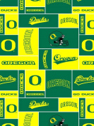 College University of Oregon Ducks Print Fleece Fabric By the Yard