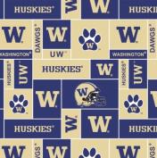 College University of WashingtonTM HuskiesTM Fleece Fabric Print By the Yard