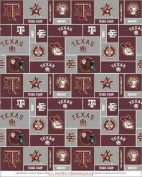 College University of Texas A & M Aggies 012 Print Fleece Fabric By the Yard