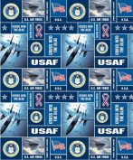 United States of America Air Force USA Military Fleece Fabric Print