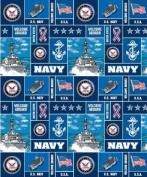 United States of America Navy USA Military Fleece Fabric Print
