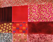 Assorted Collection of Red Blender Quilting Fabrics, Fat Quarter