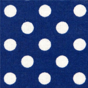 blue polka dot laminate fabric by Cosmo from Japan