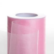 Koyal Wholesale 25-Yard Sheer Organza Fabric Roll, 15cm , Light Pink