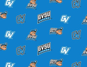 College Grand Valley State University Lakers GVSU 035 Blue Fleece Fabric Print by the Yard