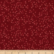 270cm Wide Quilt Backing Folio Vines Red Fabric